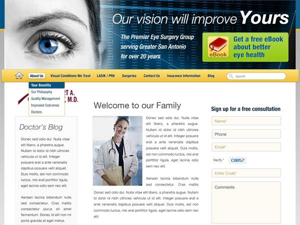 EYE CLINIC template WordPress