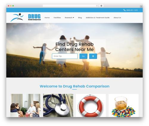 Health-Center-Pro WordPress blog theme - drugrehabcomparison.com