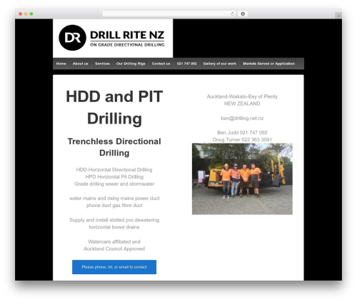 Responsive WP theme - drilling.net.nz