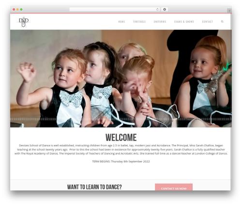 Senna (shared on themelock.com) top WordPress theme - devizesschoolofdance.co.uk