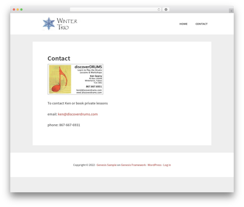 Template WordPress Genesis - discoverdrums.com