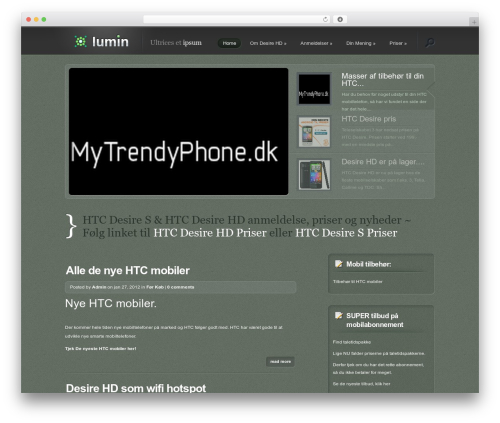 Theme WordPress Lumin - desirehd.dk/forside