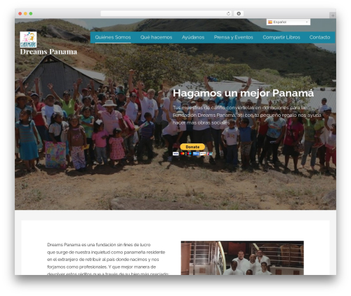 WordPress website template Lyrical - dreamspanama.org