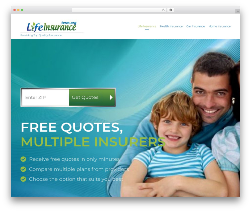 WordPress website template (VamTam) Consulting - discountlifeinsurance.term.org