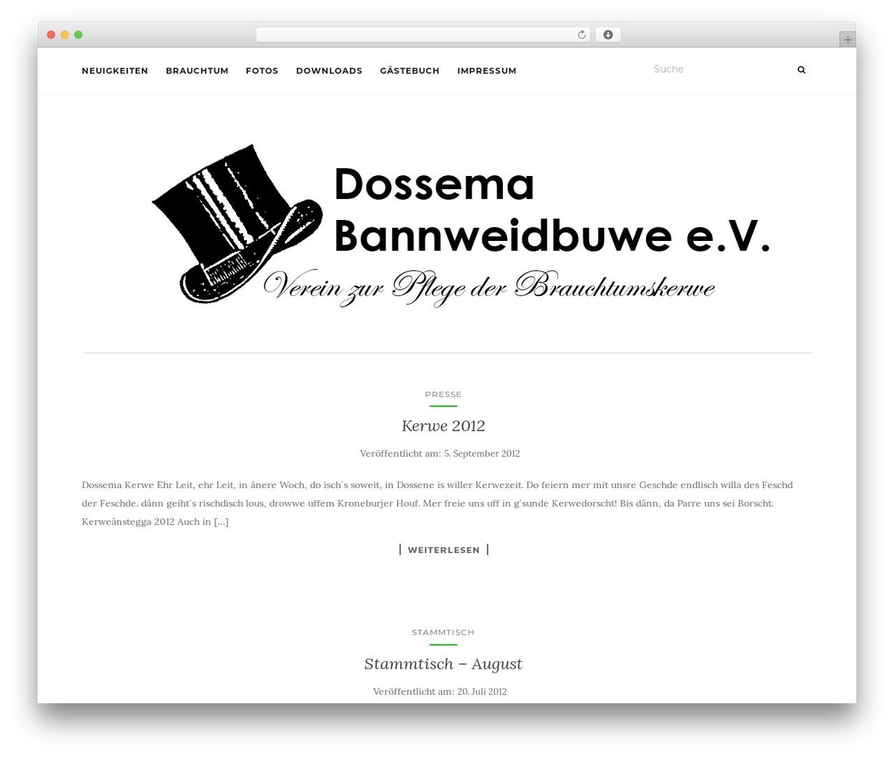 WP template Activello - dossema-bannweidbuwe.de