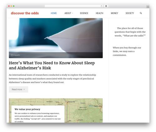 Anima WordPress theme - discovertheodds.com