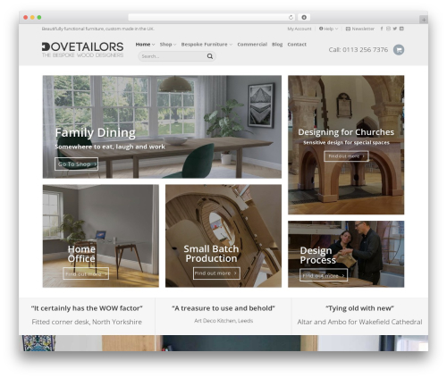 Flatsome WordPress theme - dovetailors.co.uk