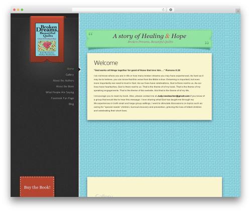 Glider WordPress website template - dreamsandquilts.com