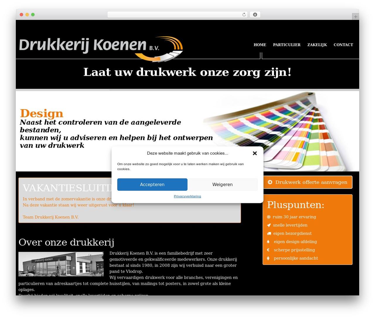 Hercules theme WordPress - drukkerij-koenen.nl