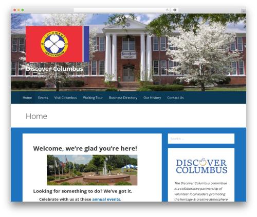 Primer best free WordPress theme - discovercolumbusnc.com