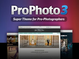 ProPhoto WordPress template for photographers