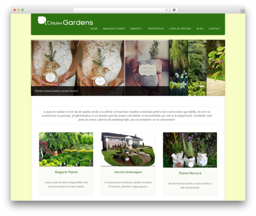 Acoustic WordPress page template - dreamgardens.ro