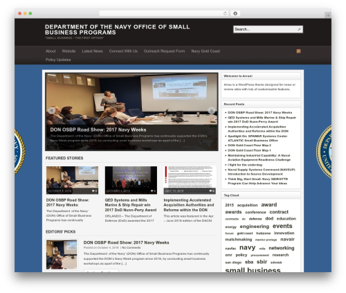 Arras business WordPress theme - donosbp.navylive.dodlive.mil