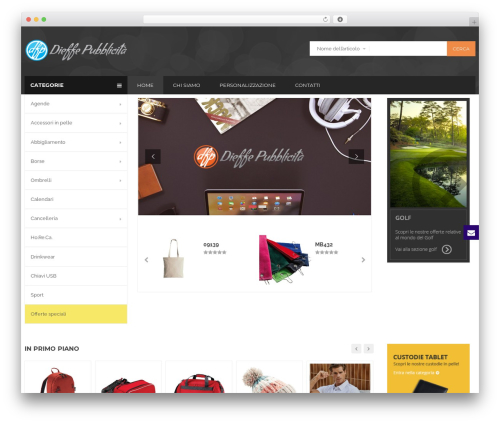 BigBoom WordPress theme - dieffepubblicita.it