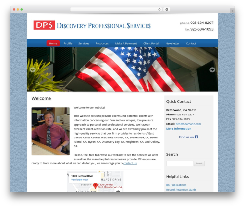 Customized WordPress template for business - discoveryprofessionalservices.com