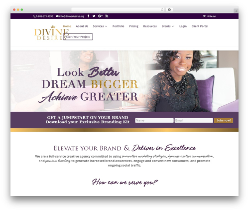 Divi WordPress theme - divinedesires.org