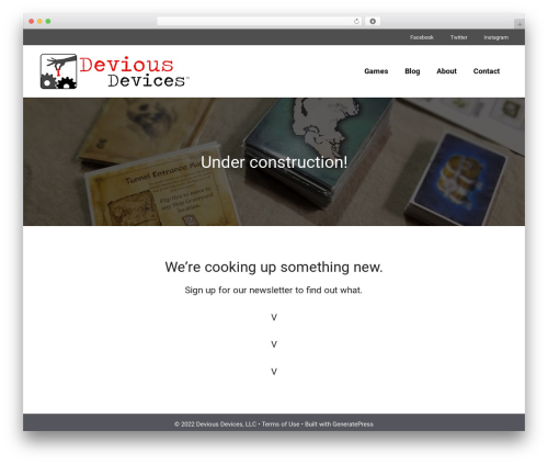 GeneratePress WordPress template free - deviousdevices.net