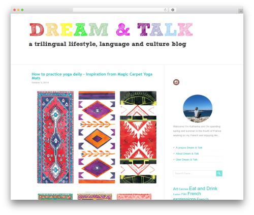PaperCuts WordPress blog theme - dream-and-talk.com