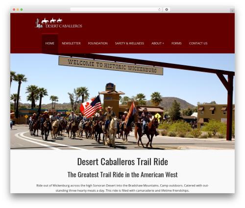 PerSempre WordPress theme - desertcaballerosride.com