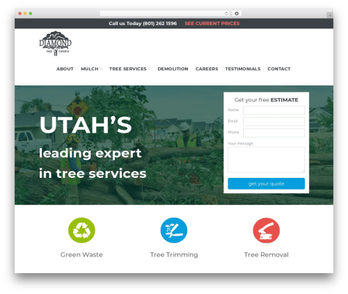 Salient WordPress theme - diamondtreeexperts.com