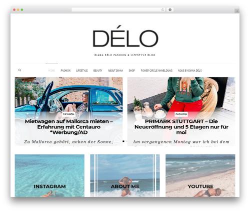 WordPress theme Dashblog - dianadelo.com