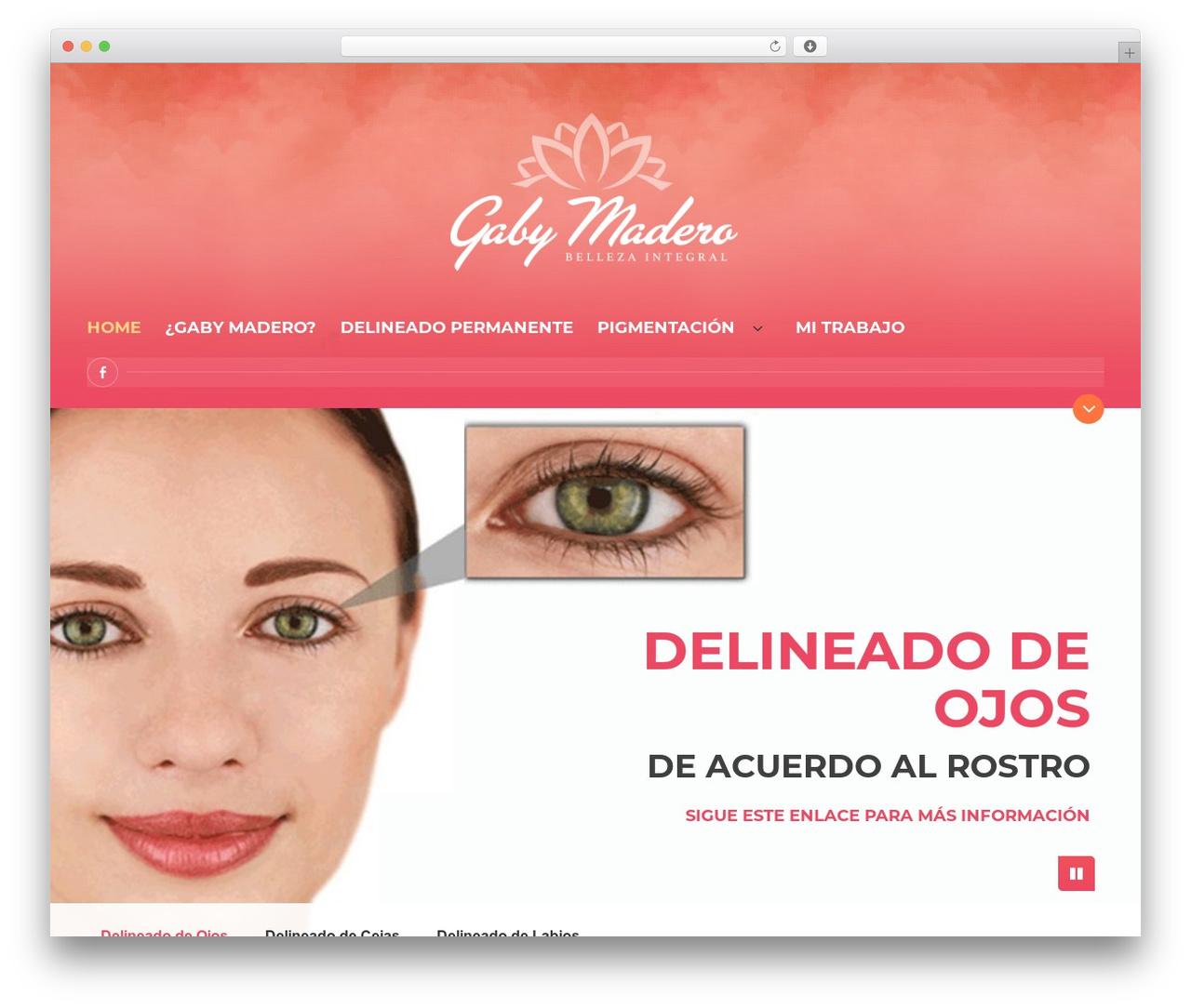 BeautySpot WordPress page template - delineadopermanente.net