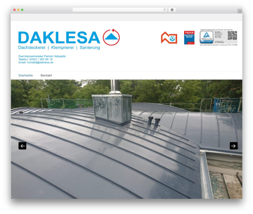 Best WordPress template Catch Base Pro - daklesa.de