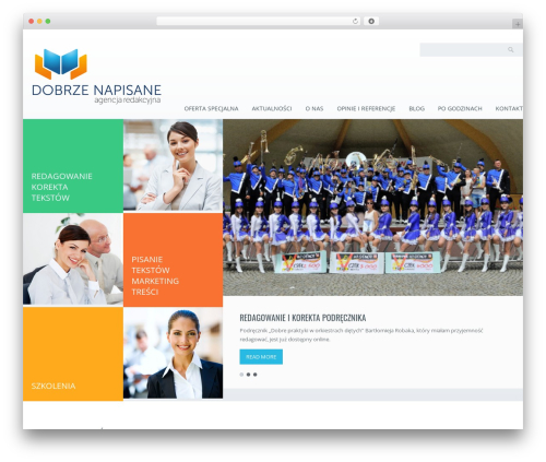 Best WordPress template Klasik - dobrzenapisane.pl