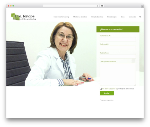 Best WordPress theme Jupiter - doctorafandos.com