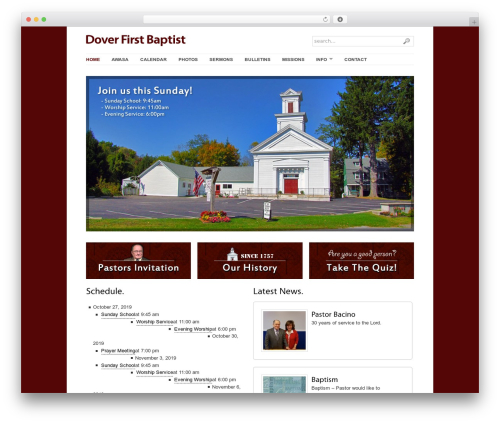 Free WordPress Tippy plugin - doverfirstbaptist.org
