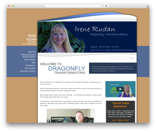 Biosphere WordPress template for business - dragonflytransformations.com.au