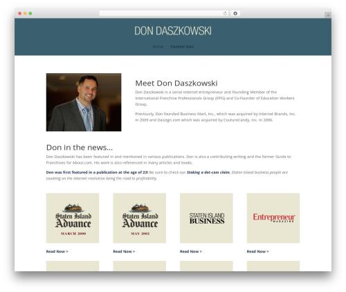 Divi WordPress theme - dondaszkowski.com