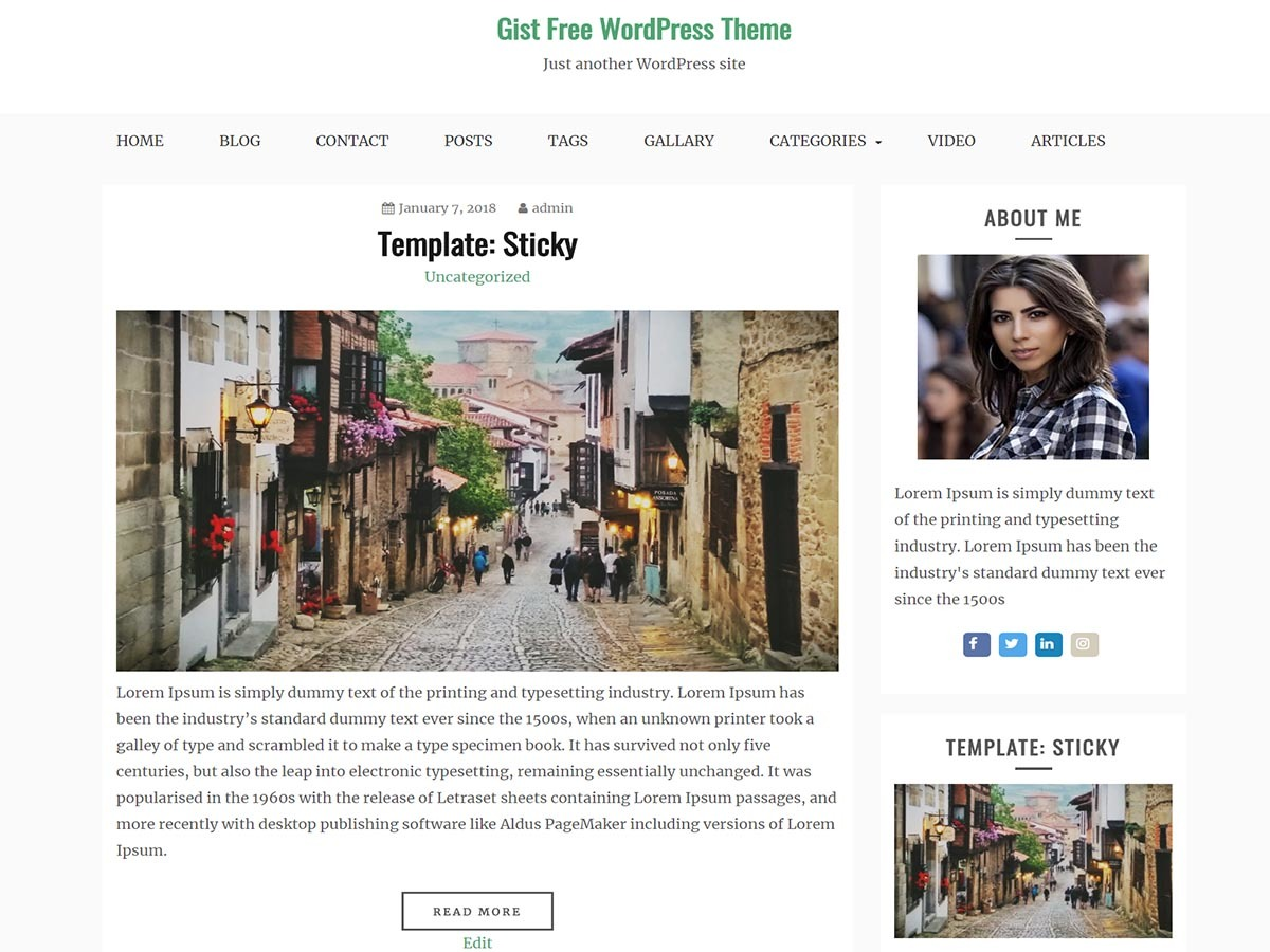 Gist WordPress blog theme
