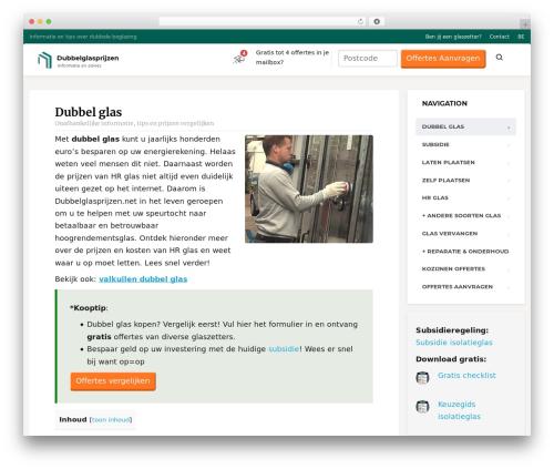 MentalPress WP Theme WordPress template - dubbelglasprijzen.net
