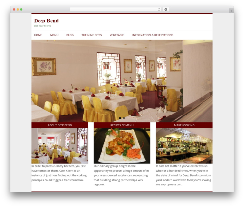 Restaurant WordPress template - deepbend.com