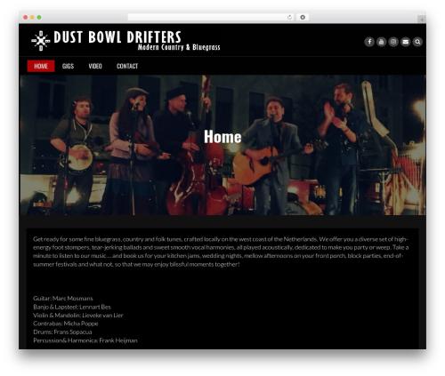 Rock N Rolla template WordPress free - dustbowldrifters.com