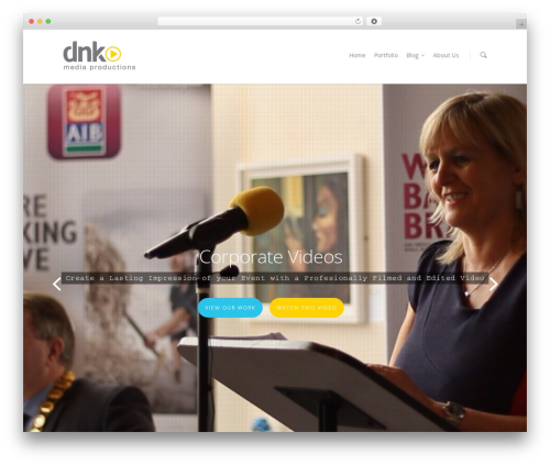 Salient WordPress template - dnkmedia.ie