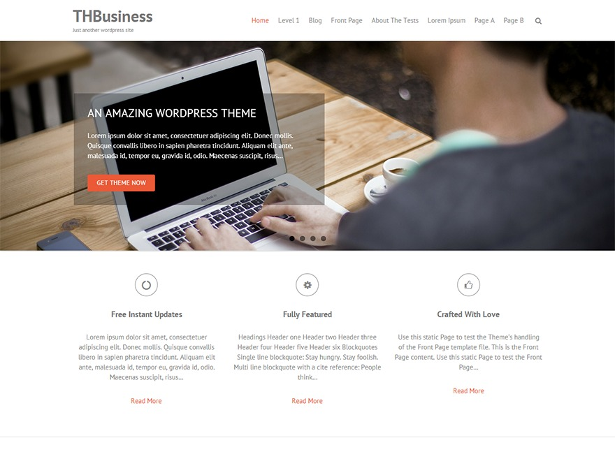 THBusiness company WordPress theme