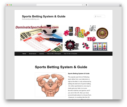 Twenty Eleven template WordPress free - dominatesportsbetting.com