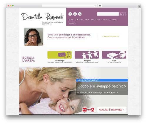 WordPress template Yasmin - donatellaromanelli.it