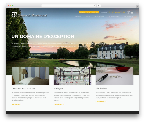 WordPress theme Construction - domainedemontchevreuil.fr