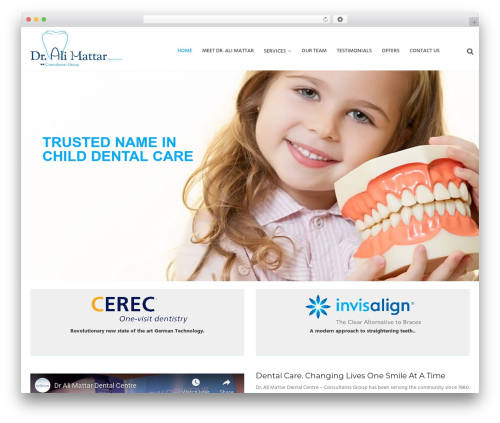 WordPress website template Dental Care - dentistbahrain.com