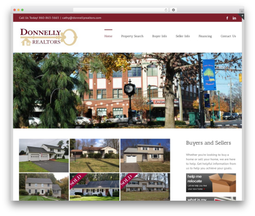 Avada real estate template WordPress - donnellyrealtors.com
