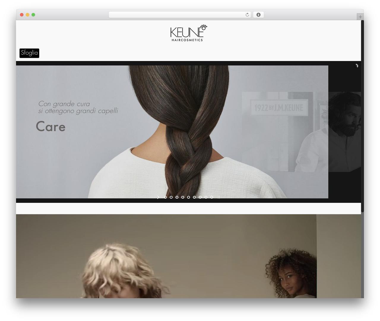 Betheme WordPress theme - keune.it