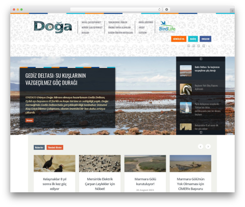 Biosphere best WordPress template - dogadernegi.org