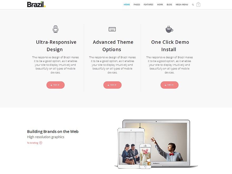 Brazil WordPress portfolio template