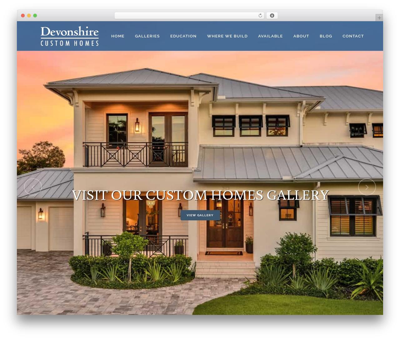 Bridge WordPress theme - devonshirecustomhomes.com