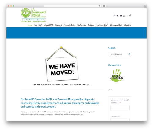 Children Charity WordPress theme - doublearc.org