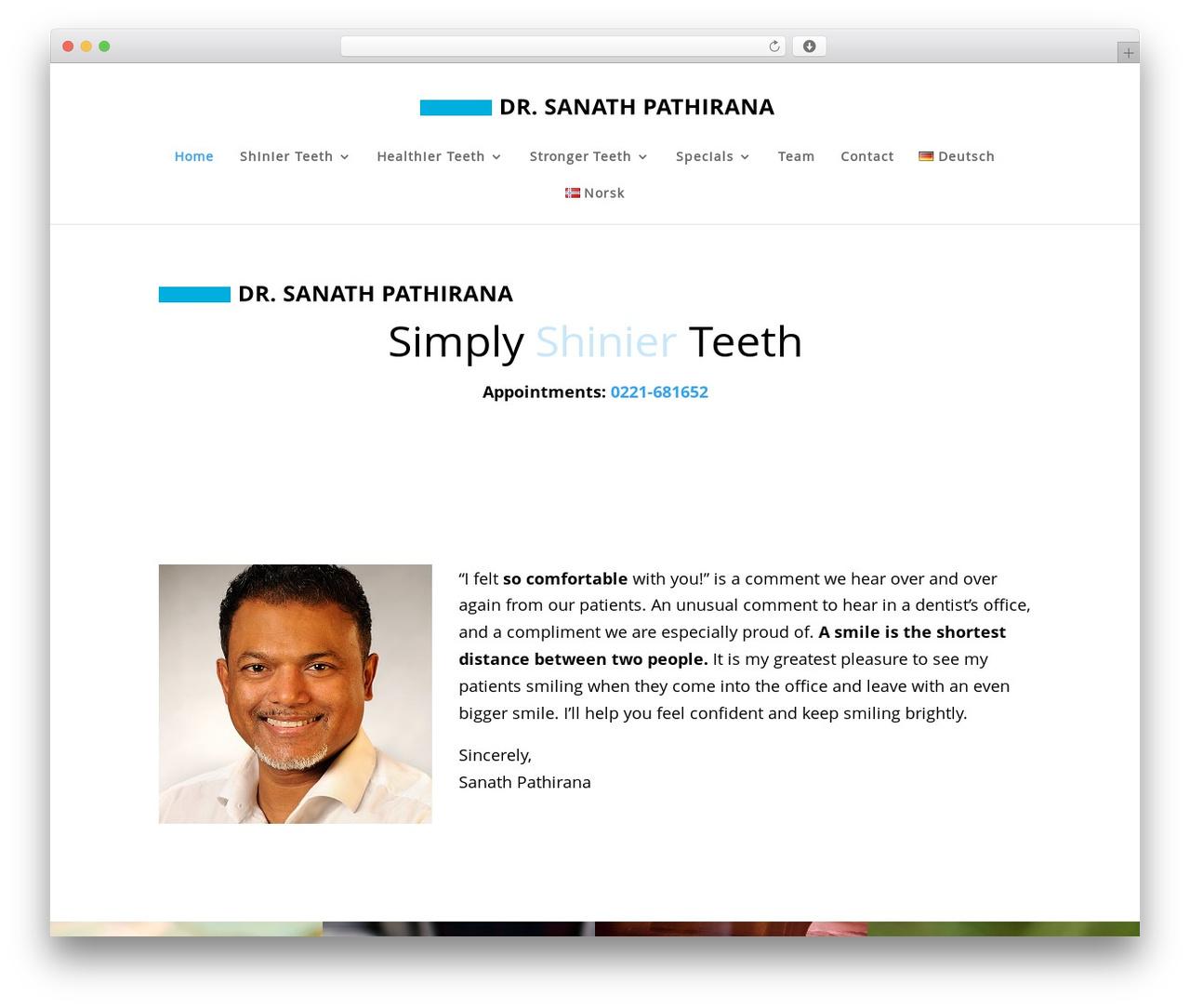Divi theme WordPress - dr-pathirana.de