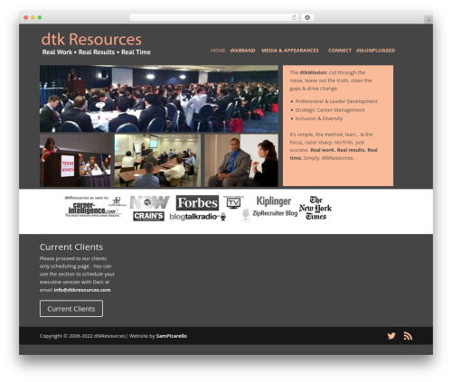 Divi WP theme - dtkresources.com